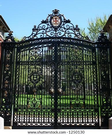 Brown University gates - stock photo