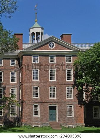 Brown University, University Hall, built 1770 - stock photo