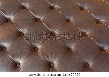 brown upholstery leather pattern background  - stock photo