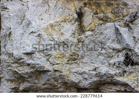 Brown veined on white stone slab background texture. - stock photo
