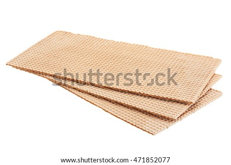 Brown wafer textured surface closeup background