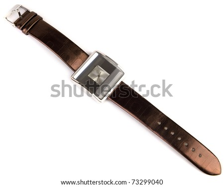 Brown watch isolated on white