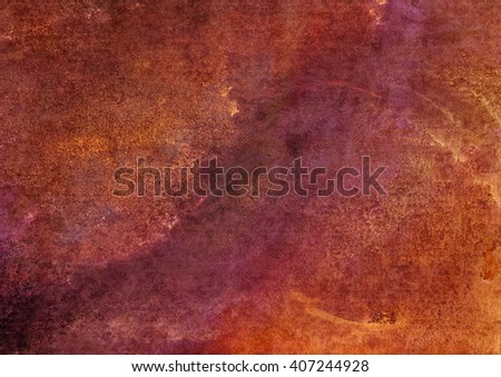 brown watercolor background - stock photo