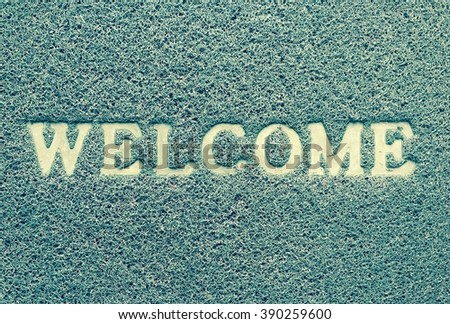 Brown welcome carpet,  - stock photo
