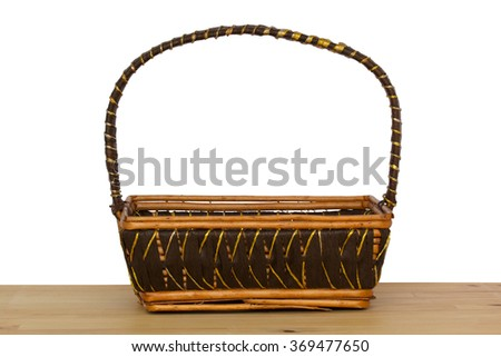 Brown wicker basket - stock photo