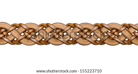 Brown women belt isolated on white - stock photo