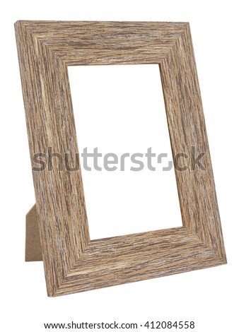 brown wood frame on white background