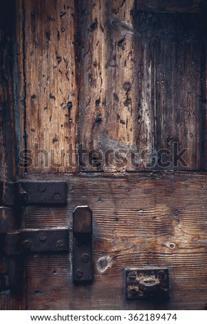 Brown wood old door texture