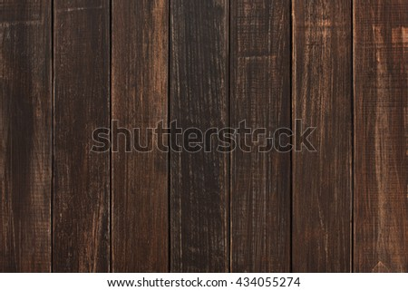 Brown wood texture and background. Brown wood texture background. Rustic, old wooden background. Aged wood planks texture pattern. Wooden surface. Vertical timber planks - stock photo