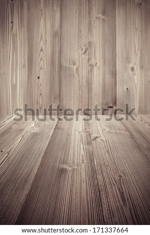 brown wooden background - stock photo