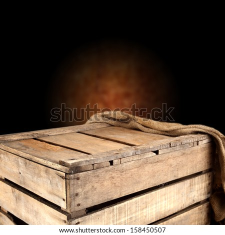 brown wooden box of empty space
