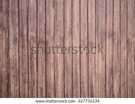 brown wooden fence texture for background - stock photo