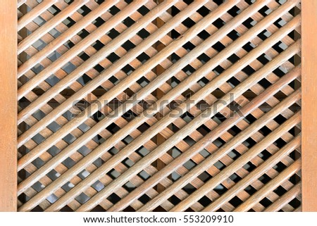 Brown wooden lattice, background