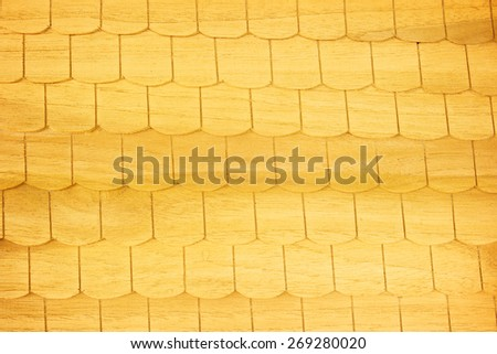 Brown wooden tiles - stock photo