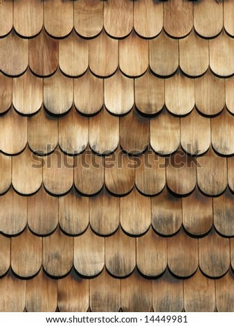 Brown wooden tiles II - stock photo