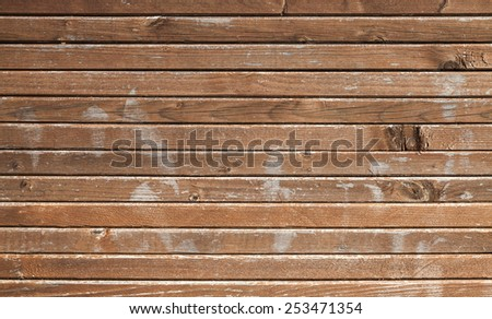 Brown wooden wall background photo texture - stock photo