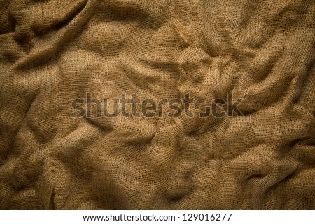 Brown wrinkle fabric