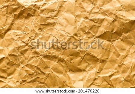 Brown wrinkled  paper background - stock photo
