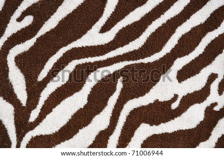 Brown Zebra pattern useful as a background - stock photo