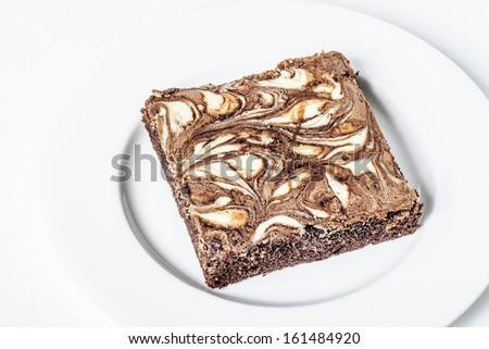 Brownie cake - stock photo