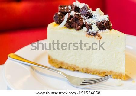 Brownie cheesecake - stock photo