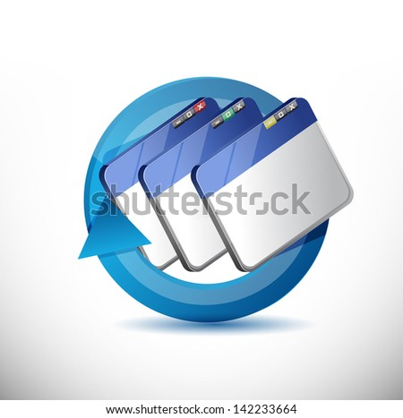 browser cycle illustration design over a white background - stock photo