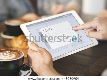 Browsing Digital Tablet Concept - stock photo
