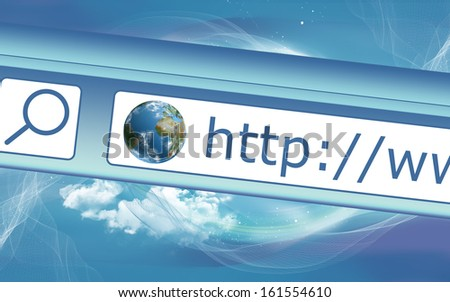 Browsing the World Wide Web from an Address Bar - stock photo