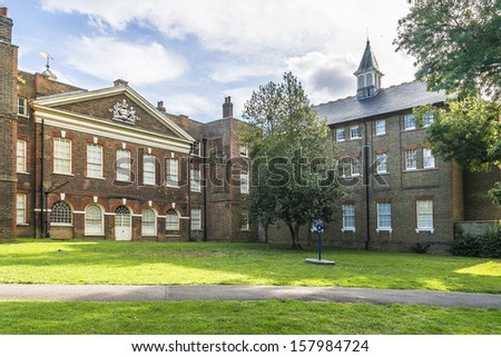 Bruce Castle (formerly Lordship House) is a 16th-century manor house in Lordship Lane - one of the oldest surviving English brick houses. Tottenham, London.  - stock photo