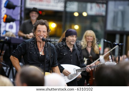 Bruce Springsteen and Steven Van Zandt - stock photo