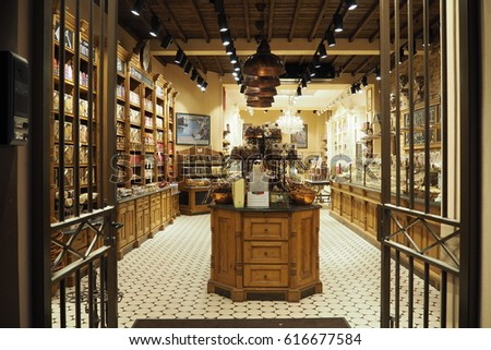 Chocolate Shop In Brugge And Its Interior