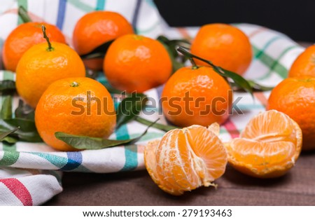brunch of tangerines