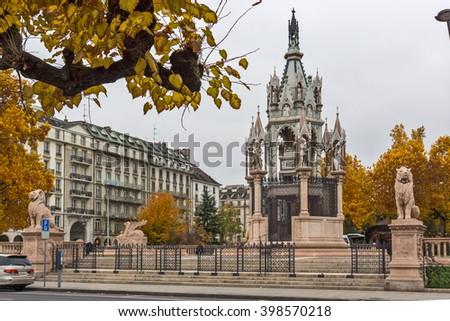 Brunswick Monument and Mausoleum in Geneva, Switzerland - stock photo