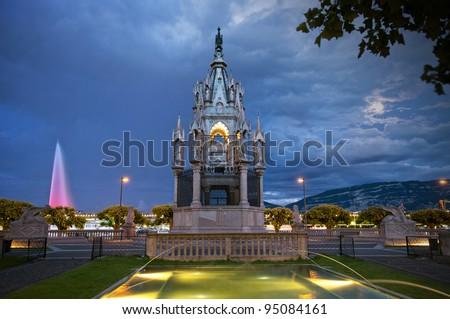 Brunswick Monument, Geneva, Switzerland - stock photo