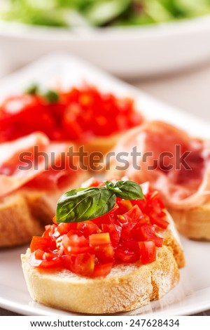 Bruschetta - stock photo