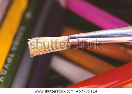 brush close up painting drawing background creativity learning