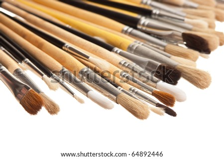 brush drawing isolated on a white background