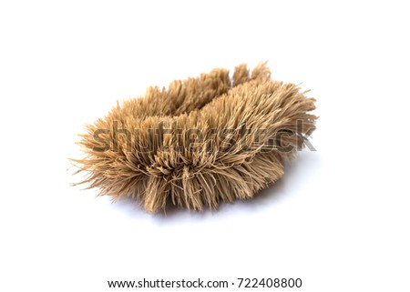 Brush for cleaning isolated on white background