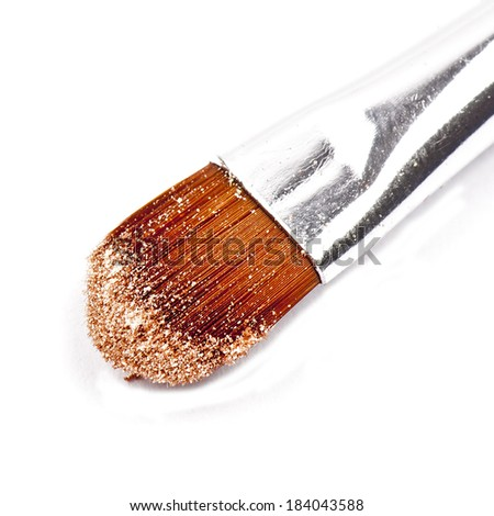 Brush for makeup closeup isolated on white background - stock photo