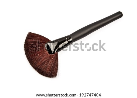 Brush for makeup isolated on white background - stock photo