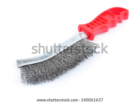 brush for rust removal isolated