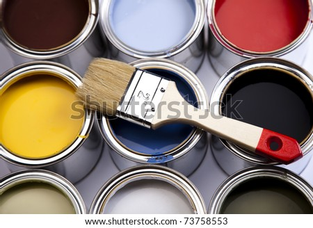 Brush, Home decoration - stock photo