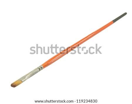 brush isolated on white background - stock photo