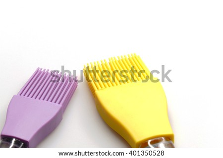Brush made of silicone - stock photo