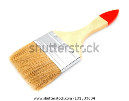 Brush. On a white background. - stock photo