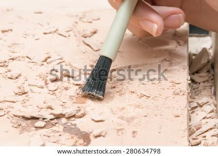 Brush on ground - stock photo