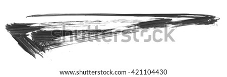 Brush stroke and texture. Smear brush on a white background. - stock photo