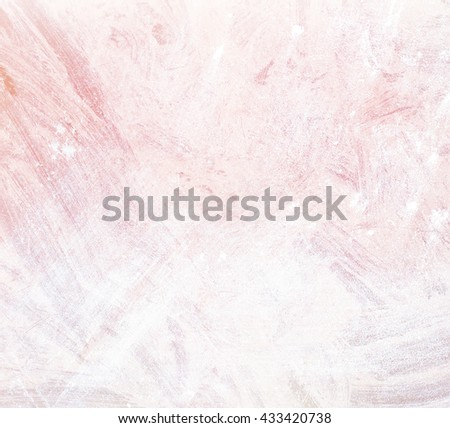 brush stroke on pink color background - copy space for text
