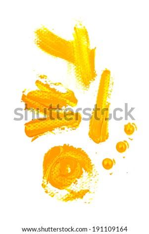 Brush strokes  - stock photo