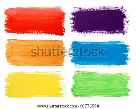Brush strokes banners